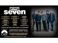 4 x Shed Seven standing tickets Friday 8th December Rock City, Nottingham