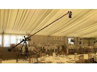 Camera crane Jib hire for wedding filming cinematography weddings operator canon 5d mk3 & c100 mk2