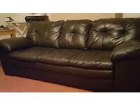 Selling my DFS black 100% leather 3 seater sofa as no longer use a sofa .