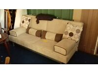 Cream Sofa Bed in excellent Condition