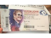 X3 tickets to see Elton John on Sunday (4th June) at Derby Cricket Ground