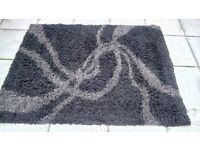 Black and Grey Shaggy Rug for Sale
