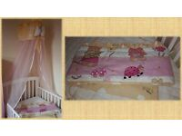 Baby Cot Canopy Net with Holder + Cot Bumber