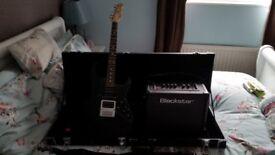 Fret-King Super Hybrid Electric Guitar - Deluxe hard case, lthr strap, Blackstar ID Core Stereo 20