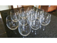 Ten Glass Vases