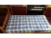 Willies Gambier Pine Single Bed & Orthopaedic Mattress