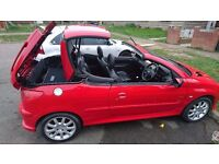 SUPERB CONDITION HARD TOP CONVERTIBLE PEUGEOT 206CC. LOW MILEAGE, 1997 CC. 54 PLATE