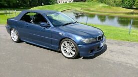 BMW 330ci M SPORT CONVERTIBLE CABRIOLET 330 E46 LEATHER ALLOYS RARE 6 speed MANUAL *10 months MOT*