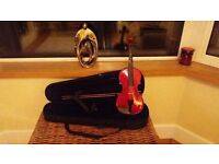 Violin with Bow and Hard Case