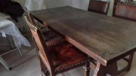 old oak dining set