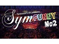 two tickets (great seats) for Symfunny at Royal Albert Hall in April