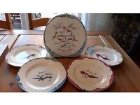 GORGEOUS Rosanna set of 4 salad plates