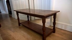 Solid dark wood, high quality. detailed coffee table