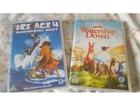 ice age 4 dvd and watership down dvd