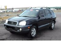 Hyundai Santa Fe Black 2004 Leather Interior