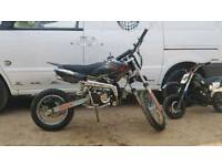 110cc clutch pit bike dirt off road pitbike
