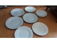 Selection of White dinner plates