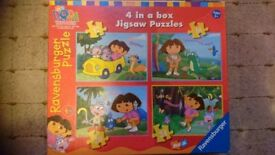 Dora the Explorer jigsaw puzzles 4 in one box