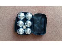 Set of 6 Boules for sale.