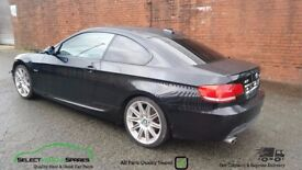 2008 BMW 3-SERIES 320D M-SPORT E92 COUPE BLACK BREAKING SPARES PARTS SALVAGE