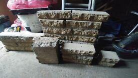 Reclaimed yellow textured bricks