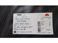 Rick Astley tickets at the Royal Albert Hall for Thursday the 13th april
