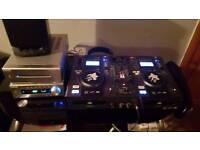 Tibo DJ PRO 2000 Mixing Decks plus ministry of sound amp