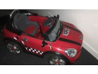 Mini Cooper Red And Black Kids Electric Car