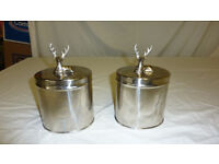 Pair of Chrome canisters