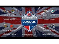Block M34 - 4 NFL tickets for Arizona Cardinals v Los Angeles RAMS at Twickenham on 22nd Oct 2017