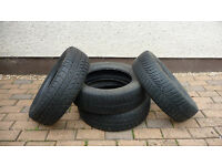 For sale 4 winter tyres spec 175x 65 R15 84T Good for 2-3 years winter use