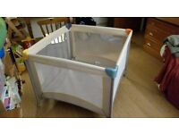 Play Square Travel Cot-Hauck Dream and Care Play Square Travel Cot - Beige
