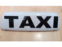 TAXI ROOF SIGN WHITE MAGNET