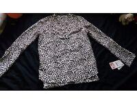 Women's leopard print blouse