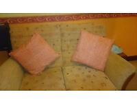 New Debenhams orange & white cushions
