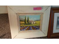 ORIGINAL OIL PAINTING OF FRENCH LAVENDER FIELDS. BOUGHT IN PROVENCE.