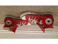 Red Converse All Stars Mens size 6
