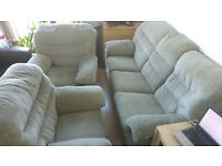 three seater sofa + 2 armchair for free. Collection only