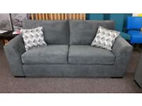Ex Display 2.5 Seater Dark Grey Fabric Sofa Bed **CAN DELIVER**