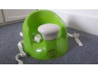 Baby Bumbo Feeding/Play Seat - Can Fasten to Chair/Sit at Table Seat - Lime Green as New