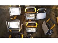 LED Site Lights, 9 LED and 1 Hallogen, plus 3 stands Ph: 07922603555