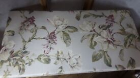 Long floral seat upcycled