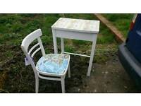 Childs desk and chair with map feature