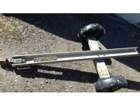 Single motorcycle trailer aluminium heavy duty splits in to 2 pieces for storage