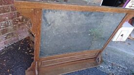 Ready to upcycle,wooden mirror unit
