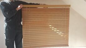 Wooden venetian window blind