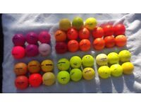 Used pink, orange and yellow golf balls for sale