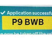 private registration plate up for sale