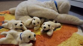 Andrex soft toy with 4 puppies