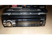 SONY CD, BLUETOOTH, HANDSFREE, USB, PLAYER WITH NEW SPEAKERS.